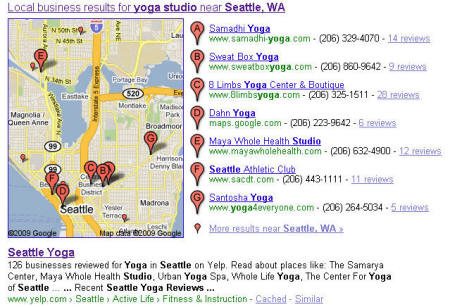 Google and Yelp search example
