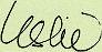 Leslie's signature