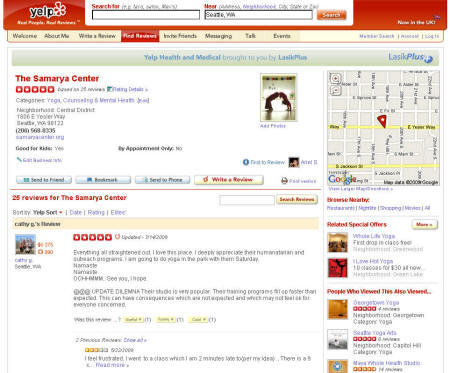 Yelp customer review example